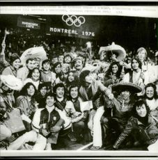 Audience at the end of the 1972 Olympic Games