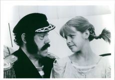 """Tami Erin and Conrad John Schuck in the movie, """"The New Adventures of Pippi Longstocking""""."""