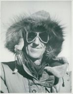 Edmund Hillary, Alpineist and Polar Scientist, here in wintertime in the South Pole