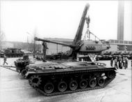 Armored tanks are scrapped