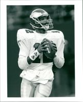 American football quarterback Randall Cunningham, Philadelphia Eagles