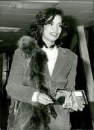 Bianca Jagger arrives at Heathrow