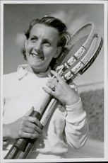 Swedish tennis player Mary Lagerborg, the champion in single