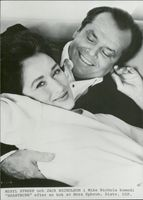 "The actors Meryl Streep and Jack Nicholson in the movie ""In Lust and Need"""