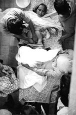 Faith healing operation done on a woman.  - 1968