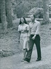 Queen Silvia and King Carl Gustaf as youngsters