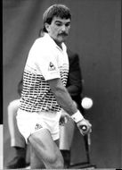Tennis players Johan Kriek