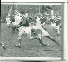 Grace slips a tackle from Ulster
