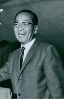 Photo of Mitsuo Fuchida who led the attack against Pearl harbour, 1962.