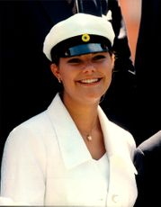 Crown Princess Victoria during her degree.