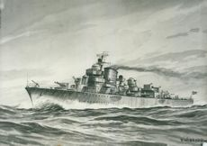 Illustration destroyer Uppland