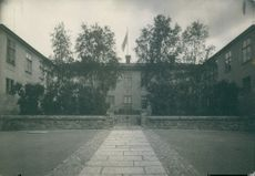 View of an entrance of a building, 1944.