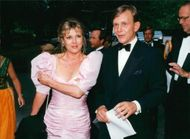 Grynet Molvig along with husband Carl Adam Lewenhaupt on his way to celebrate Princess Christina's 50th birthday