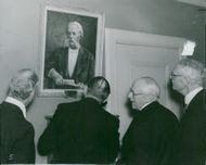 Professor Otto Torell's portrait has been hung in the executive room at the National Museum
