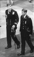 Prince Andrew, Duke of York with Prince Edward