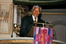 Portrait picture of Nelson Mandela taken in conjunction with a speech in Oslo Cathedral.