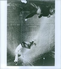"""A scene from the film """"Rumble Fish"""" casting by Glenn Withrow and Matt Dillon."""