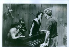 Still from the film Great Balls of Fire! with Dennis Quaid and Winona Ryder.