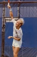 Thomas Högstedt in action during the US Open 1989