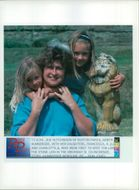 Animal Lion:Sue hutchinson with her daughters.