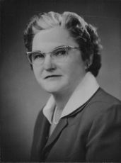 Mrs. Peter Gibson in a portrait.
