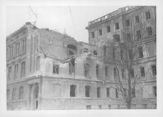 Finland parliament building destroyed by war. 1939-1940