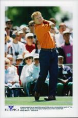 Golf player Per-Ulrik Johansson will be on the first tee during the US Masters 1997