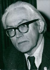 Portrait of Michael Foot.