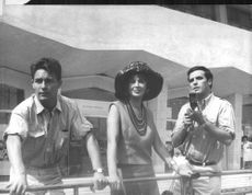 Jacques Charrier with Eleonora Rossi Drago and Francisco Rabal.
