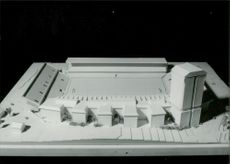 Model of arena in Stockholm for the 2004 Olympics