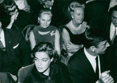 Michele Morgan, Simone Signore and Yves Montand at concert with Edith Piaf.
