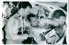 A scene from the 1995 film Apollo 13, starring Tom Hank, Kevin Bacon and Bill Paxton.