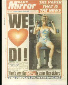 Mirror Newspapers - British National Daily Tabloid with Princess Diana on Headline