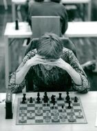 Ferdinand Hellers is playing chess