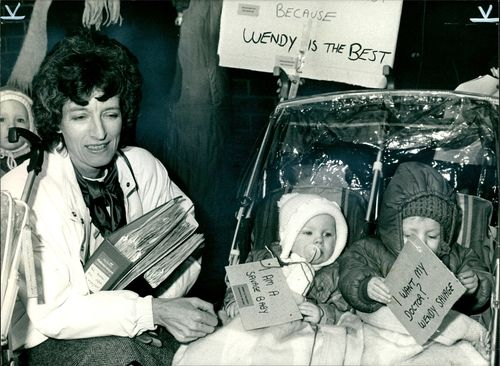 Mrs. Wendy Savage with Laura and Liam.