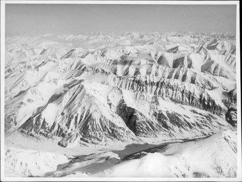 View of Brooks Mountains in Alaska.