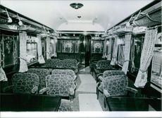 The first of 8 Original carriages belonging to the legendary orient express, Restaurant car.