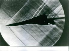 Sillhuoete of a Caravelle plane.