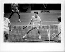 John Fitzgerald during the semi final in the double against Sweden in the Davis Cup 1985