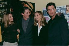 """The actors from the movie """"A Midsummer Night's Dream"""" at the premiere in LA. From left Michelle Pfeiffer, Christian Bale, Calista Flockhart and Rupert Everett"""