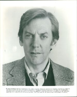 Donald Sutherland Canadian actor.