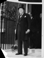 inston Churchill standing.