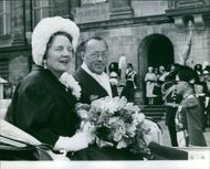Queen Juliana of the Netherlands together with her husband, Prince Bernhard.
