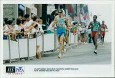 Anders Wiklund represents Sweden in the marathon during the Olympic Games.