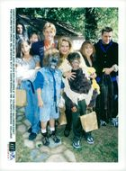 """Christopher Atkins, Brooke Shields and Judd Nelson with children at the """"Celebrity Halloween Event"""" for children with cancer"""