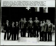 Bob Law at the awards ceremony during the 1980 Winter Olympics