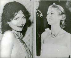 Actress Lesley Anne Down and Princess Grace of Monaco (1950s)