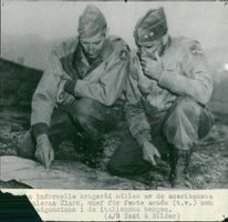 US generals Clark and Keyes  - 26 November 1944