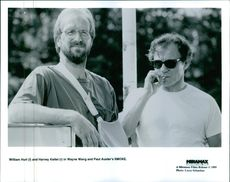 Film titled Smoke which stars William Hurt and Harvey Keitel. 1995
