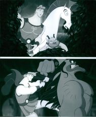 Scenes from the movie Hercules, 1997.